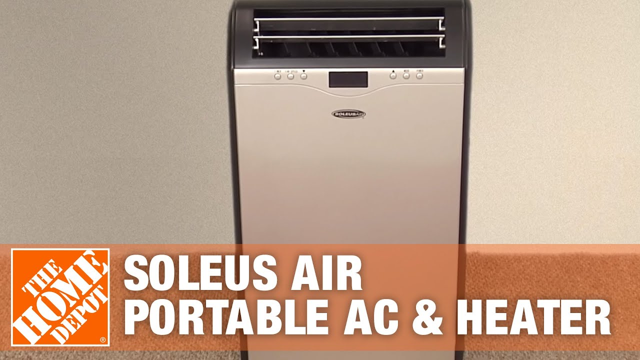 Soleus Air 13000 Btu Portable Air Conditioner And Heater With Dehumidifier The Home Depot