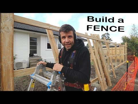 How To Build A Fence (Like A Carpenter)