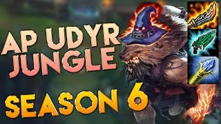 AP/Hybrid Udyr Jungle Season 6 Gameplay - League of Legends AP Udyr Season 6
