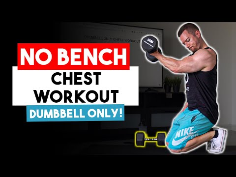 Dumbbell Only Chest Workout For Men (WITHOUT A BENCH!) | 8 No Bench Dumbbell Chest Exercises