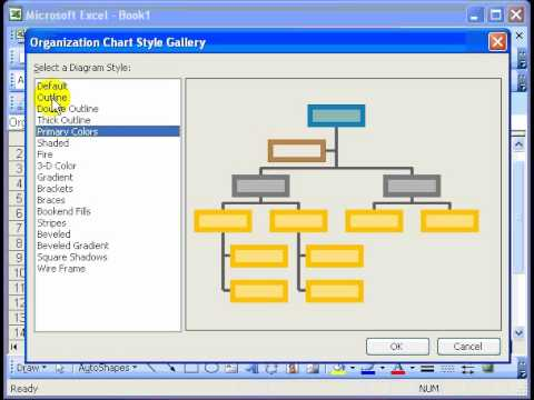 organizational chart in excel - YouTube