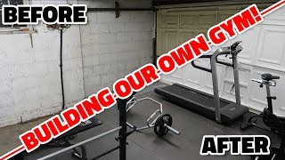 BUILDING OUR OWN GYM!!!