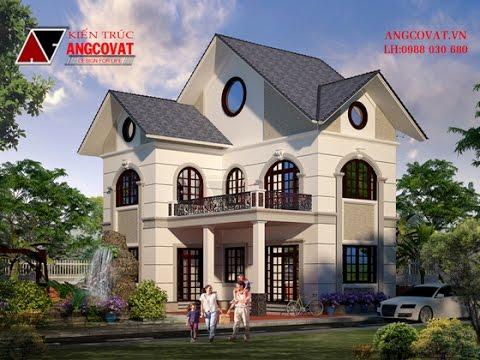 Mẫu bản vẽ thiết kế nhà 2 tầng đẹp