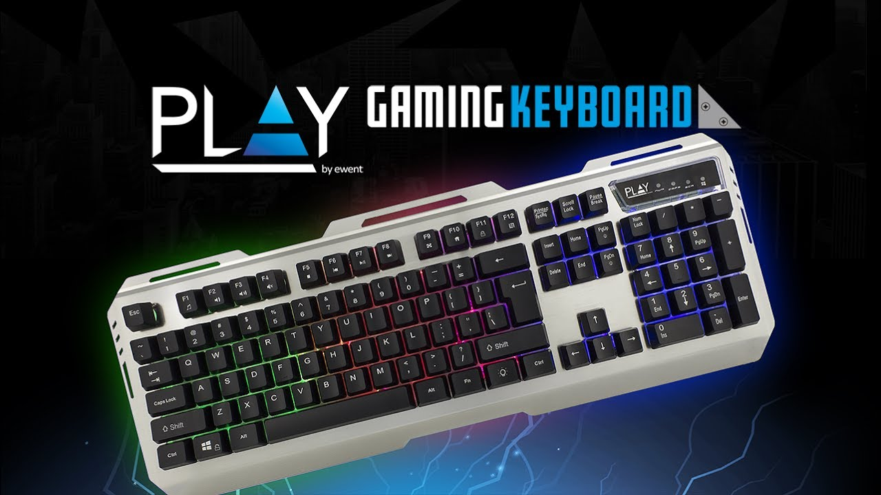 PL3310 Illuminated Metal Gaming Keyboard (English)