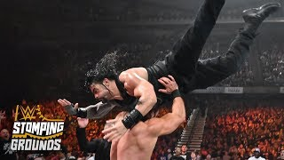 Roman Reigns takes flight like Superman WWE Stomping Grounds 2019 WWE Network Exclusive