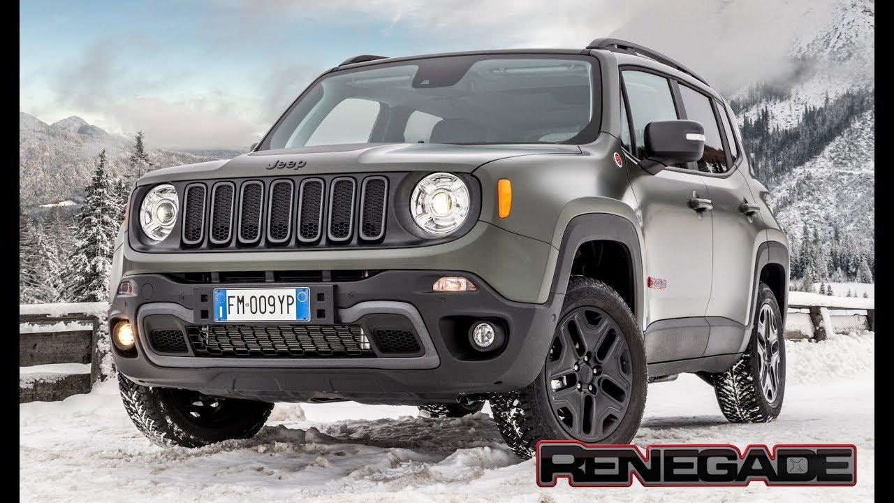 Jeep Wrangler Renegade >> 2018 Jeep Renegade Trailhawk 4x4 Snow Drive - YouTube