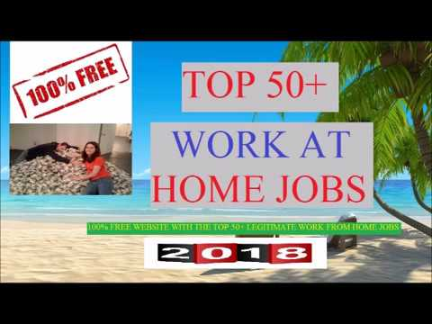 Top 50 Work at Home Jobs 2018 | Learn How to Work from Home and Make Money Online