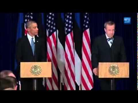President Obama Estonia press conference