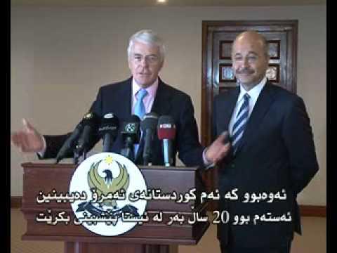 Barham Salih and John Major May 29 2011