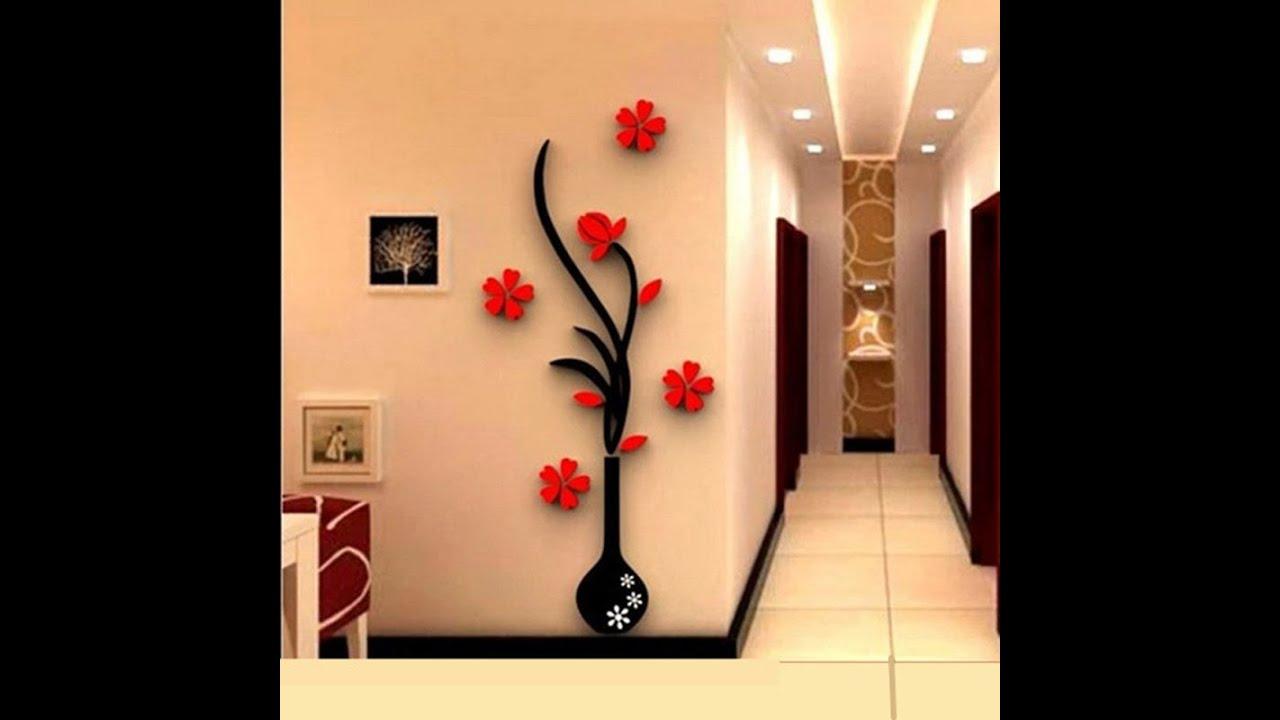 large wall stickers for living room india light blue decoration Как можно украсить стену в комнате по новому - youtube