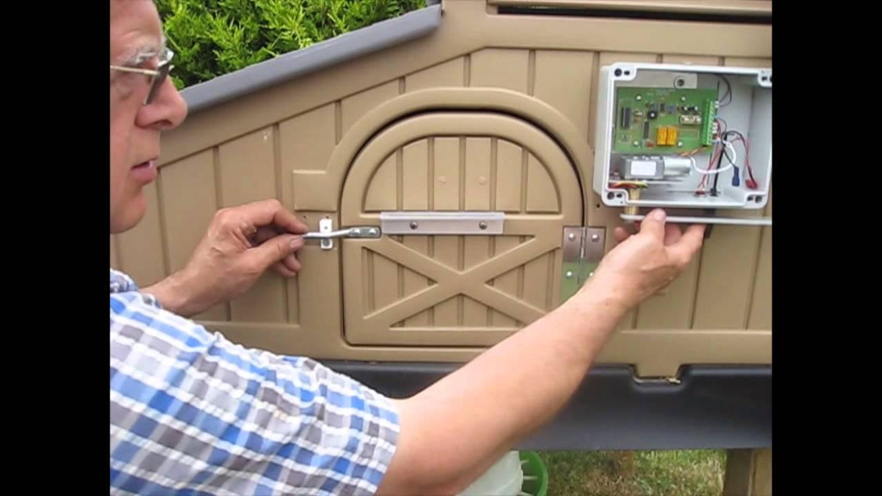 Automatic Door Opener Standard Snap Lock Chicken Coop