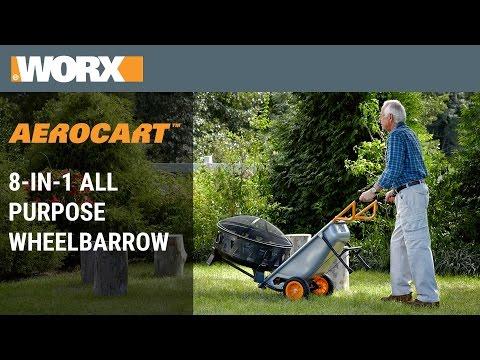 Worx Aerocart 8 In 1 All Purpose Wheelbarrow Yard Cart Dolly