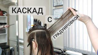 Стрижка Каскад с градуировкой Градуированная стрижка на среднюю длину волос layered hair