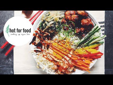 VEGAN BIBIMBAP WITH CRISPY GOCHUJANG CAULIFLOWER | hot for food