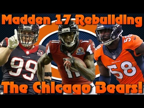 Madden 17 Connected Franchise Rebuilding The Chicago Bears! Defense Wins Championships!