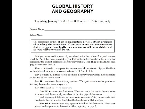 Global History Regents January 2014