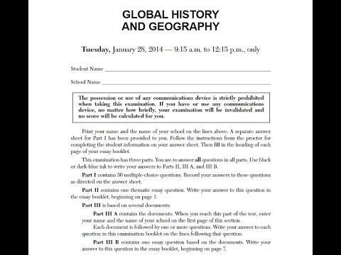 global history regents january 2014 youtube rh youtube com global studies regents practice test World History