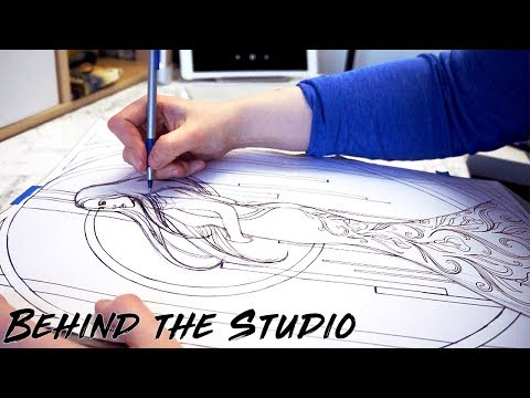 How to Transfer Sketches onto Wood & New Favourite Art Book | Behind the Studio #6