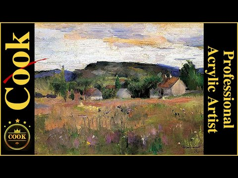 Country Farm  Landscape Palette Knife  Acrylic Painting Tutorial for Beginner and Advanced Artists