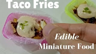 Tiny Taco Fries (Miniature cooking) (ASMR) (DIY) (mini food) Food porn ミニチュア料理   料理