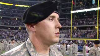 77th Army Band plays Dallas Cowboy Half-Time Show Monday Night Football! 10/25/2010