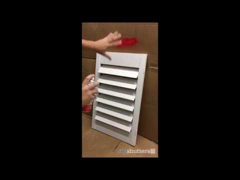 How to paint your shutters - DIY Shutters