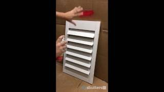 www.diyshutters.co Painting our DIY Shutter kits is super easy. We recommend using your standard enamel spray paint found at any