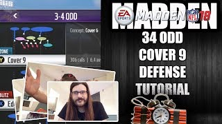 MADDEN 18 34 COVER 9 DEFENSE TUTORIAL - HOW TO STOP THE RUN AND PASS