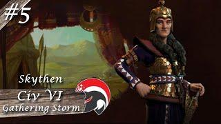 Lets Play Civi VI - Gathering Storm / Tomyris / #5 - Die erste Regierungsform (deutsch)