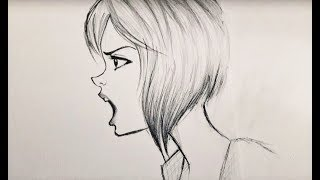 ᴴᴰ How To Draw Angry Mad Character (Time Lapse)