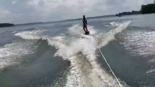 Crazy wakeboard wipeout