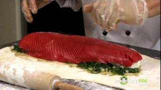 How To Make Salmon En Croute With Goat Cheese And Spinach