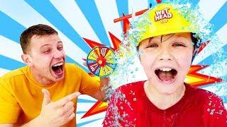 Игры для мальчиков - Челлендж Мокрая Голова! – Смешные видео с игрушками.