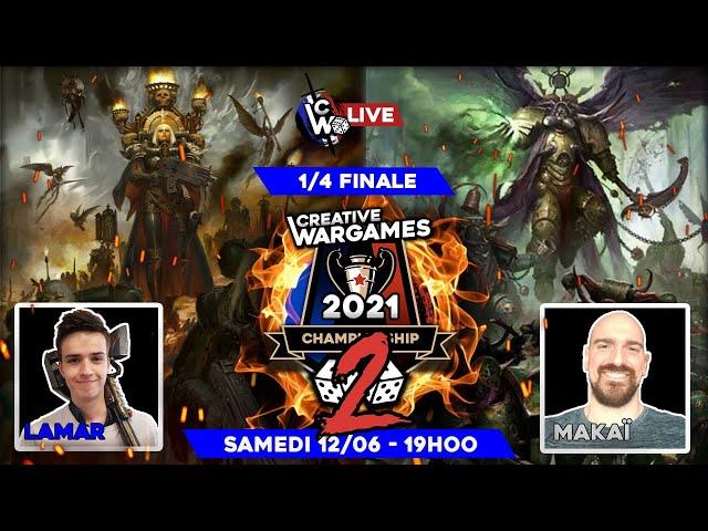 Creative Wargames Championship 2 - 1/4 de finale PART2  Death Guard VS Cult genestealer