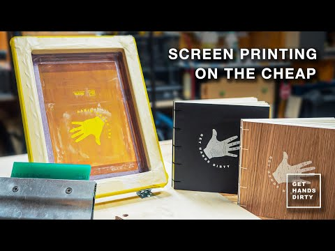 Screen Printing Notebook Covers with Simple Tools