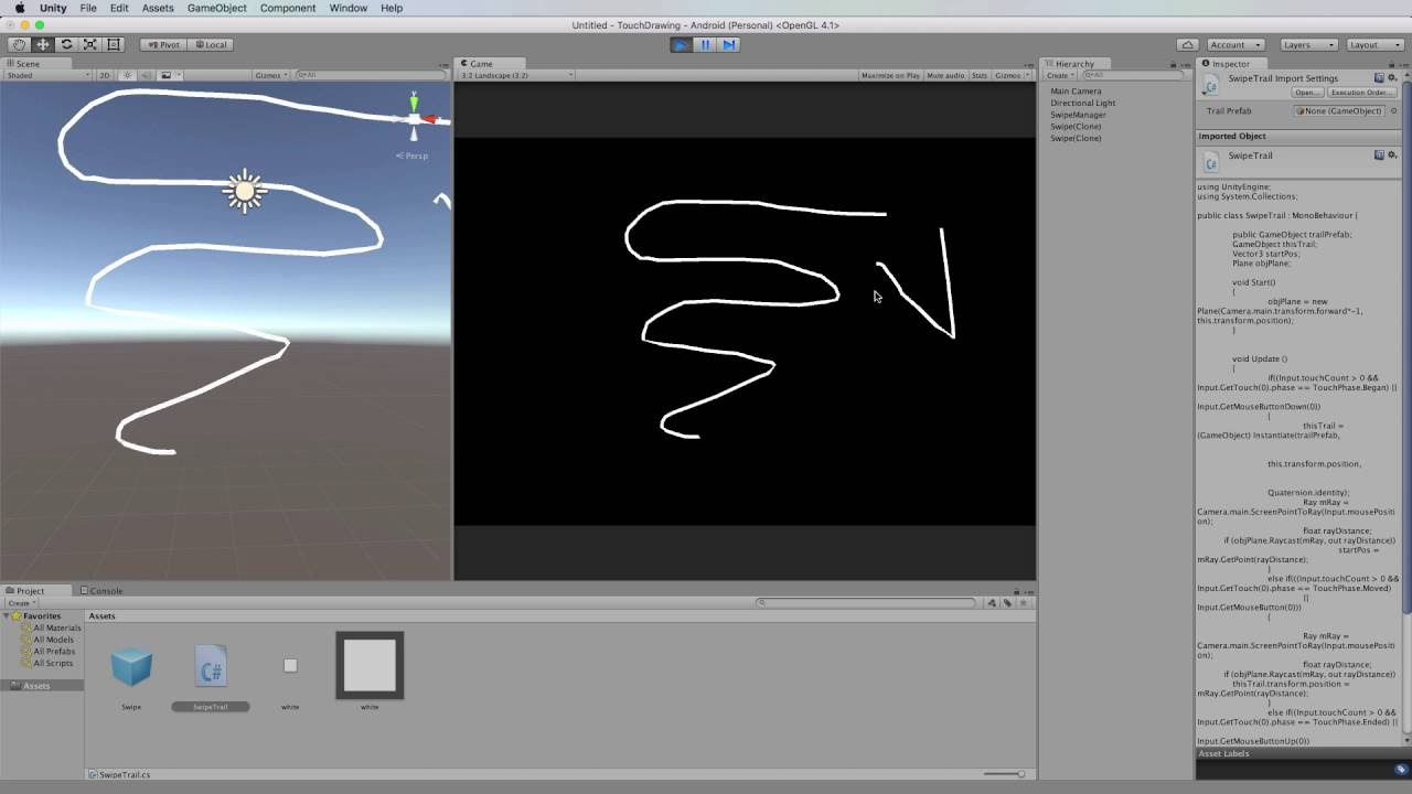Drawing Lines Unity : Unity mobile from scratch drawing multiple lines youtube
