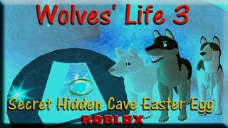 Roblox - Wolves' Life 3 - Secret Hidden Cave Easter Egg - HD