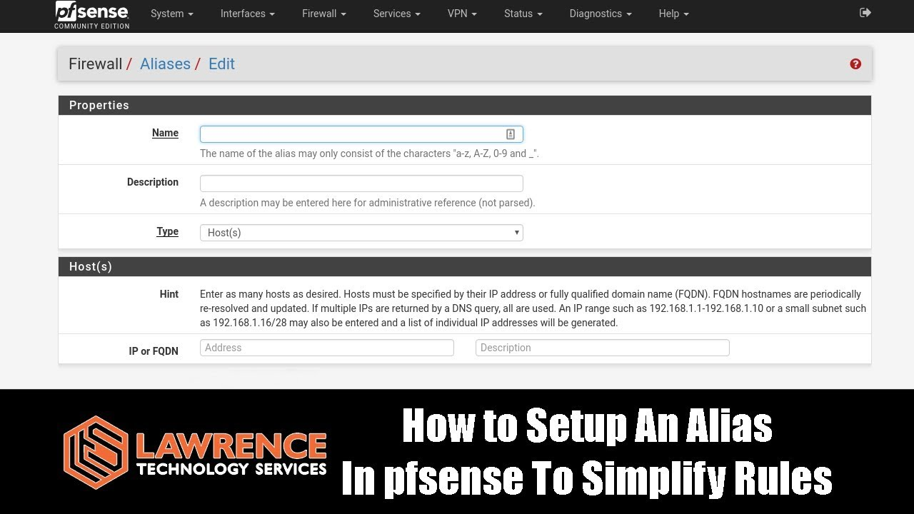 How to Setup An Alias In pfsense To Simplify Firewall Rules