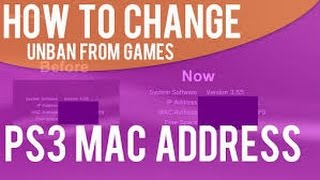 How To Change Your Ps3 Mac Address (DEX ONLY)