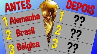 RANKING DA FIFA ANTES E DEPOIS DA COPA!!