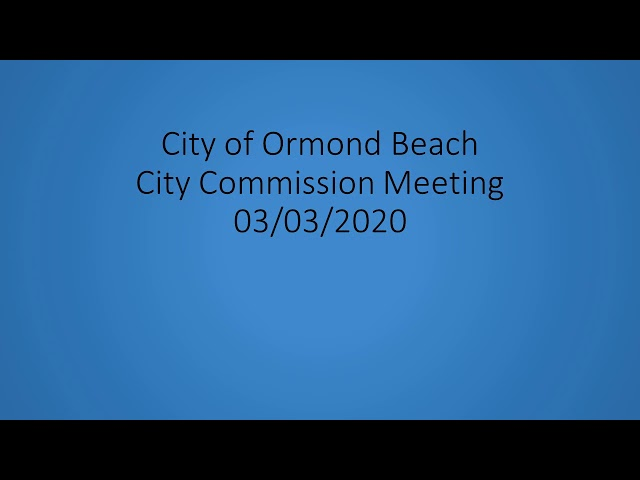 City Commission Meeting 03.03.20