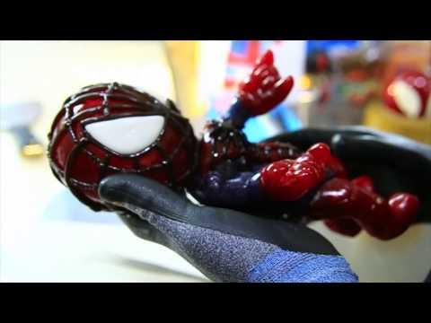 Spider-Man candy sculpture