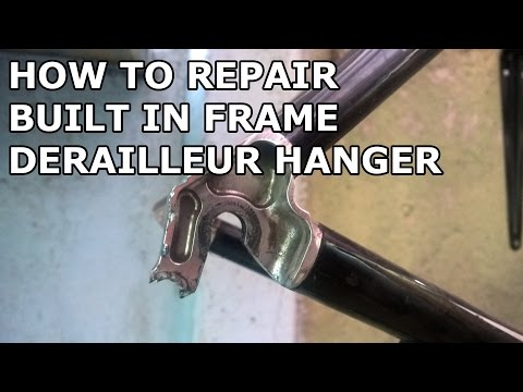 How To Repair Derailleur Hanger Built In Frame (SCOTT CR1 2009)