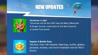 The Holiday Skins RETURN à Fortnite...
