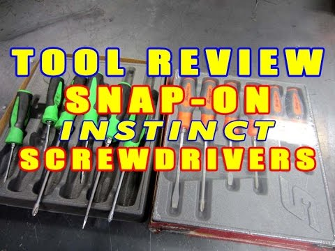 d969b2aec TOOL REVIEW - Snap-on Instinct Screwdrivers - YouTube
