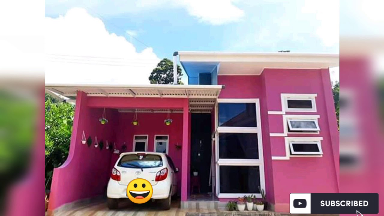 Inspirasi Desain Rumah Minimalis || Desain Minimalis Pink - YouTube