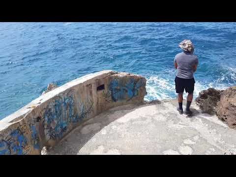 Cliff Side Fishing In Guam Oka Point | Mariana Trench | Tropical Fish