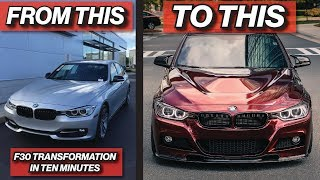 Download BUILDING AN F30 BMW IN 10 MINUTES Mp3 and Videos