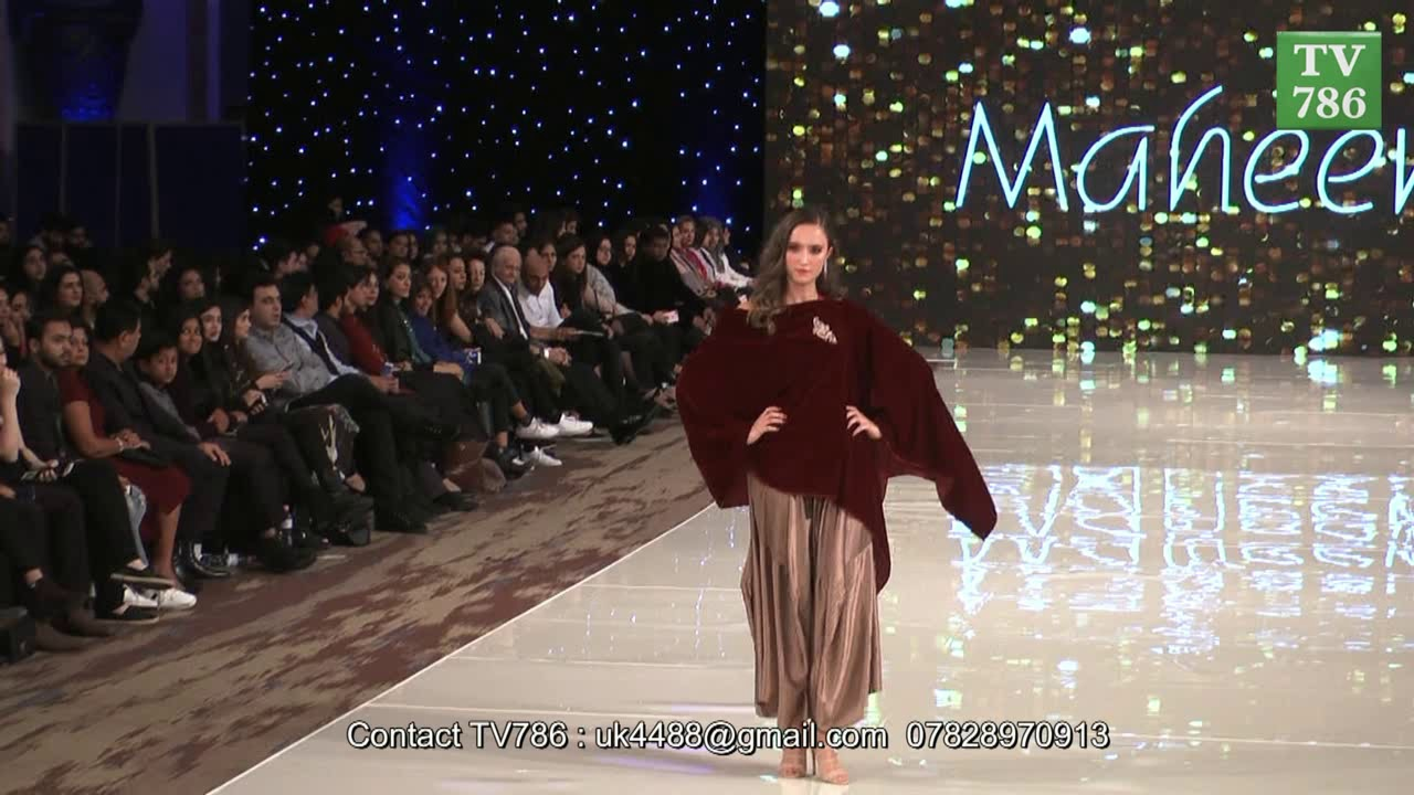 Maheen Khan S Collection At The Pakistan Fashion Week Pfw12 London 2017 Youtube