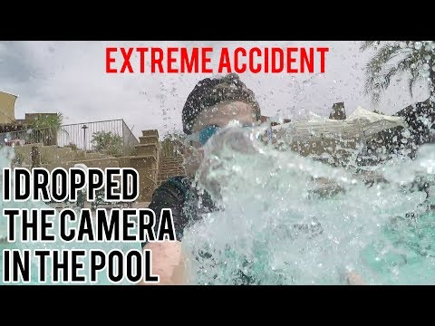 I DROPPED THE CAMERA IN THE POOL! | Palm Springs Accident